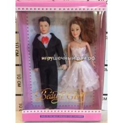 Куклы Жених и невеста набор из 2 шт 823A