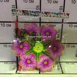 Вертушка ветерок Цветочки в упаковке 10 шт 1920-6