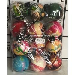 Мячики на резинке в упаковке 12 шт 1389-6