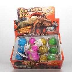 Растущие динозавры из яйца в боксе 12 шт 27841