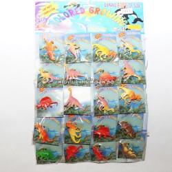 Растущие динозавры на блистере 20 шт 7847