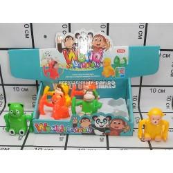 Заводные игрушки животные в боксе 6 шт 31295A