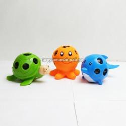 Мячики-антистресс с шариками орбиз Морские животные в боксе 12 шт  PP-345
