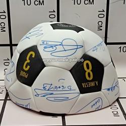 Футбольный мяч Барселона с автографами mo sha