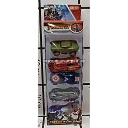 Набор машинки модельки Мстители (из 5 шт) 399-351K