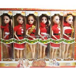 """Куклы """"Весёлое рождество"""" в боксе 12 шт WA1832"""