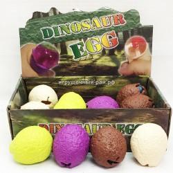 Слаймы сквиши Яйца с динозаврами в боксе 12 шт 2821-1