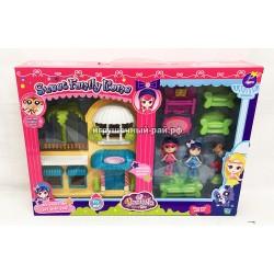 Куклы с набором мебели 60218AB