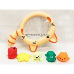 """Набор игра """"Сачок и резиновые игрушки"""" для ванной YB1775A"""