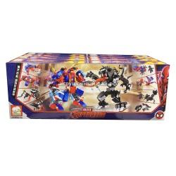 Конструкторы Супер-герои (Elephant) в боксе 8 шт JX60019