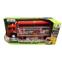 Набор пожарная машина + 2 машинки (свет и звук) 1188-21