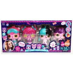 """Фигурки """"Кукла с расчёской"""" (набор из 4 шт) P1102"""