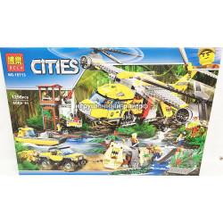 """Конструктор Сити """"Вертолёт для доставки грузов"""" (Bela, 1298 дет) 10713"""