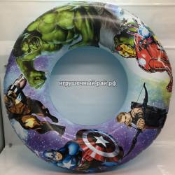 Надувной круг Супер-герои (размер 66*66*15 см) 1214-15