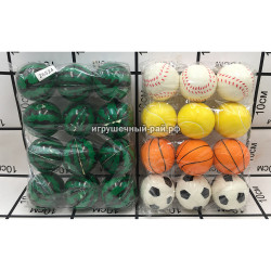 Мячики на резинке в упаковке 12 шт 26524