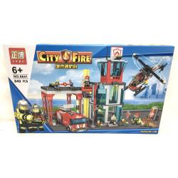 "Конструктор Сити ""Пожарная станция"" (ZHBO, 849 дет) 6641 (2)"