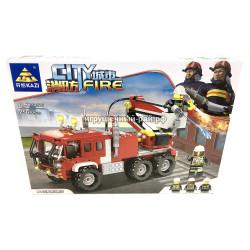 Конструктор Пожарная машина (Kazi, 256 дет) KY80526