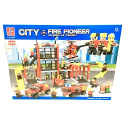 """Конструктор Сити """"Пожарная станция"""" (LX, 979 дет) LXA344"""