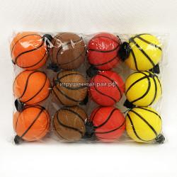 Мячики Баскетбол в упаковке 12 шт