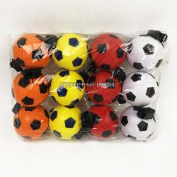 Мячики Футбол в упаковке 12 шт